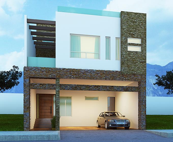 Casa s tano y terraza for Fachadas de casas con terraza